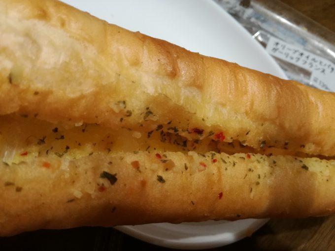 ローソン「マチノパン オリーブオイルとバターのガーリックフランス」